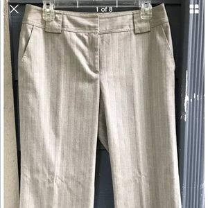 20b2b302059 DKNY Pants - DKNY Women Pants Beige Striped Stretch Size 6